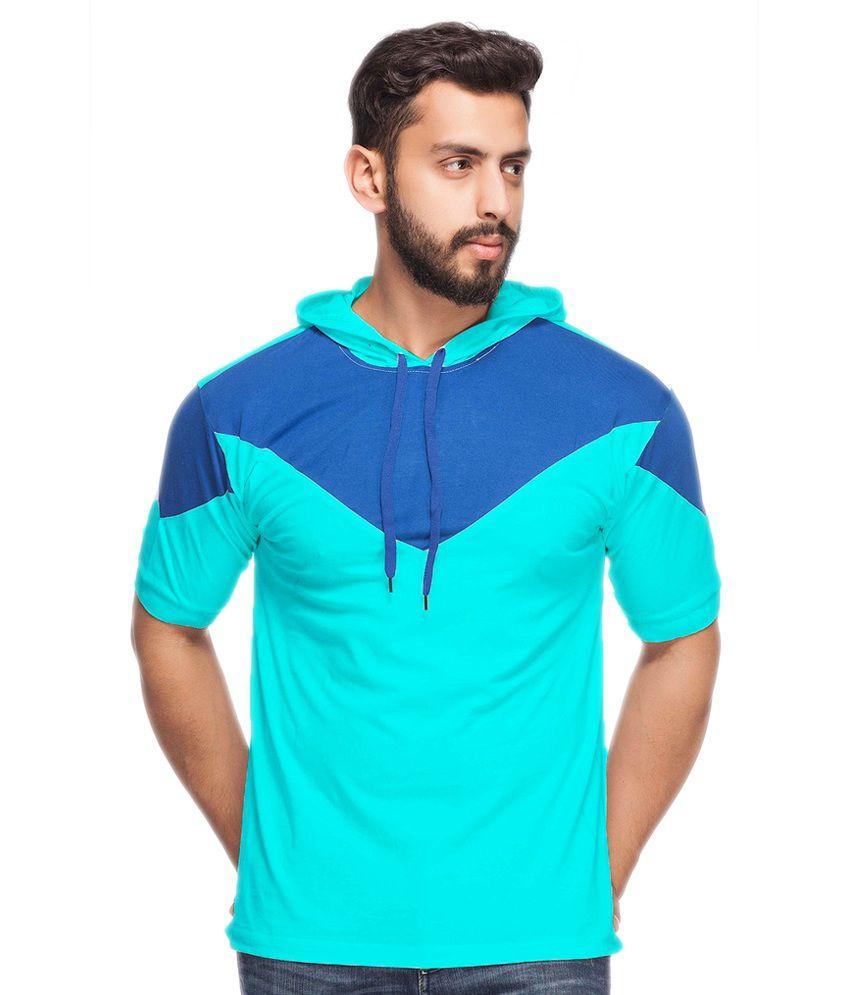 Demokrazy Blue Hooded T-Shirt