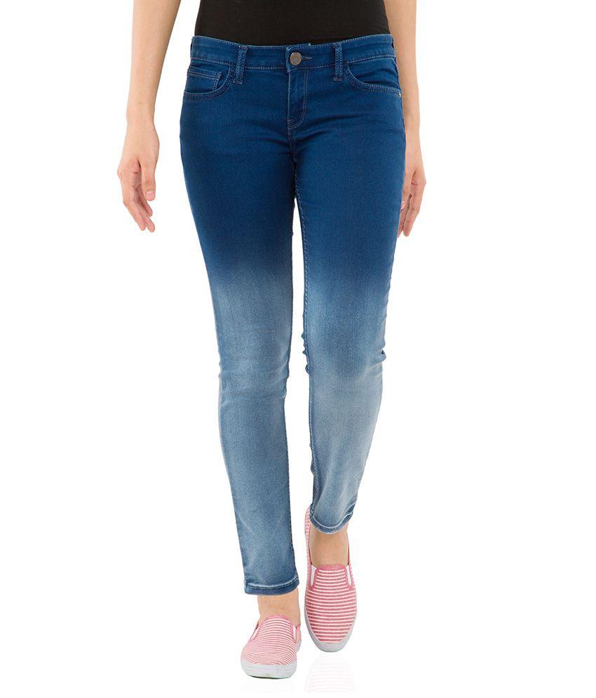 Tokyo Talkies Navy Skinny Fit Jeans