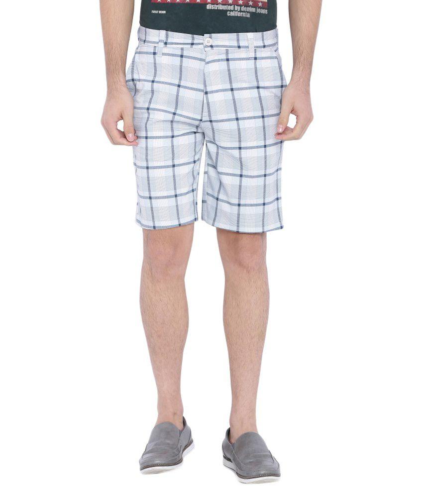 Blue Wave White Shorts