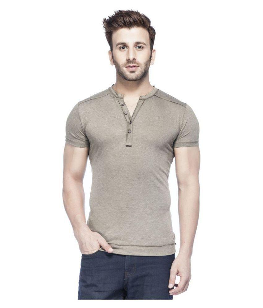 Tinted Grey Henley T Shirt