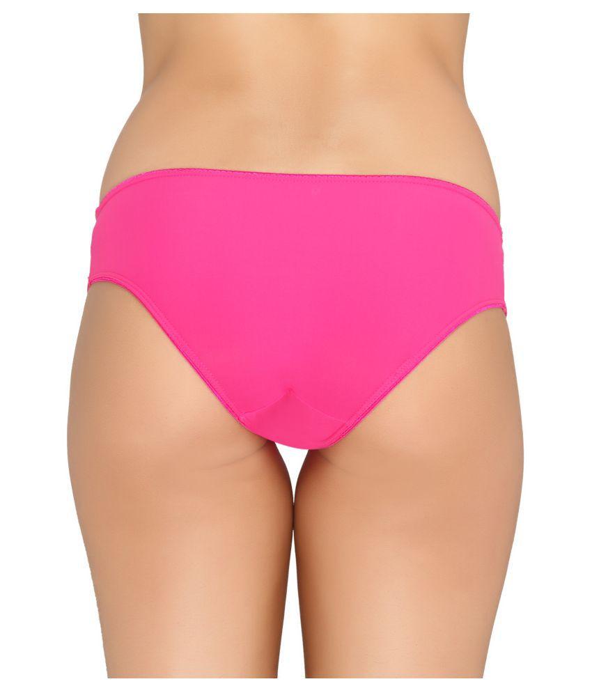 valentine pink nylon panties - Valentine Panties