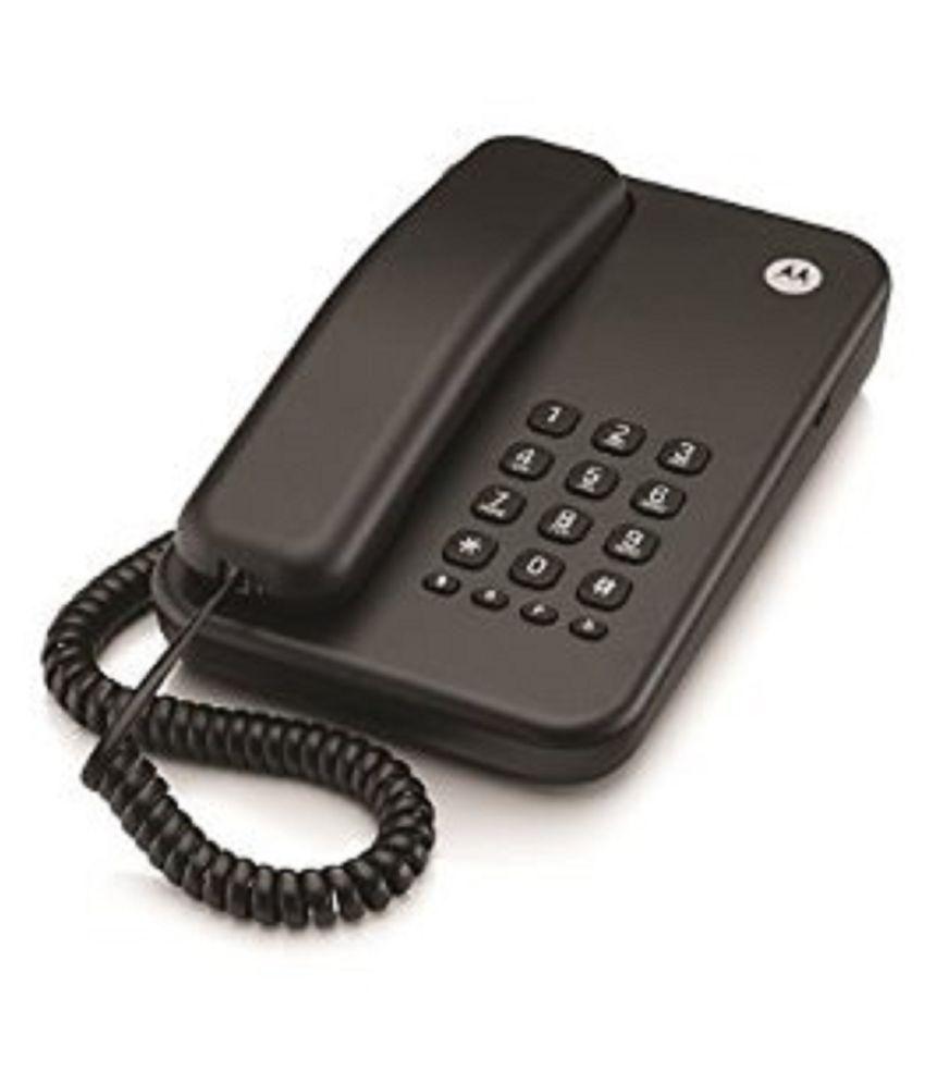 7582f45256d Buy Motorola Ct100 Corded Landline Phone ( Black ) Online at Best Price in  India - Snapdeal