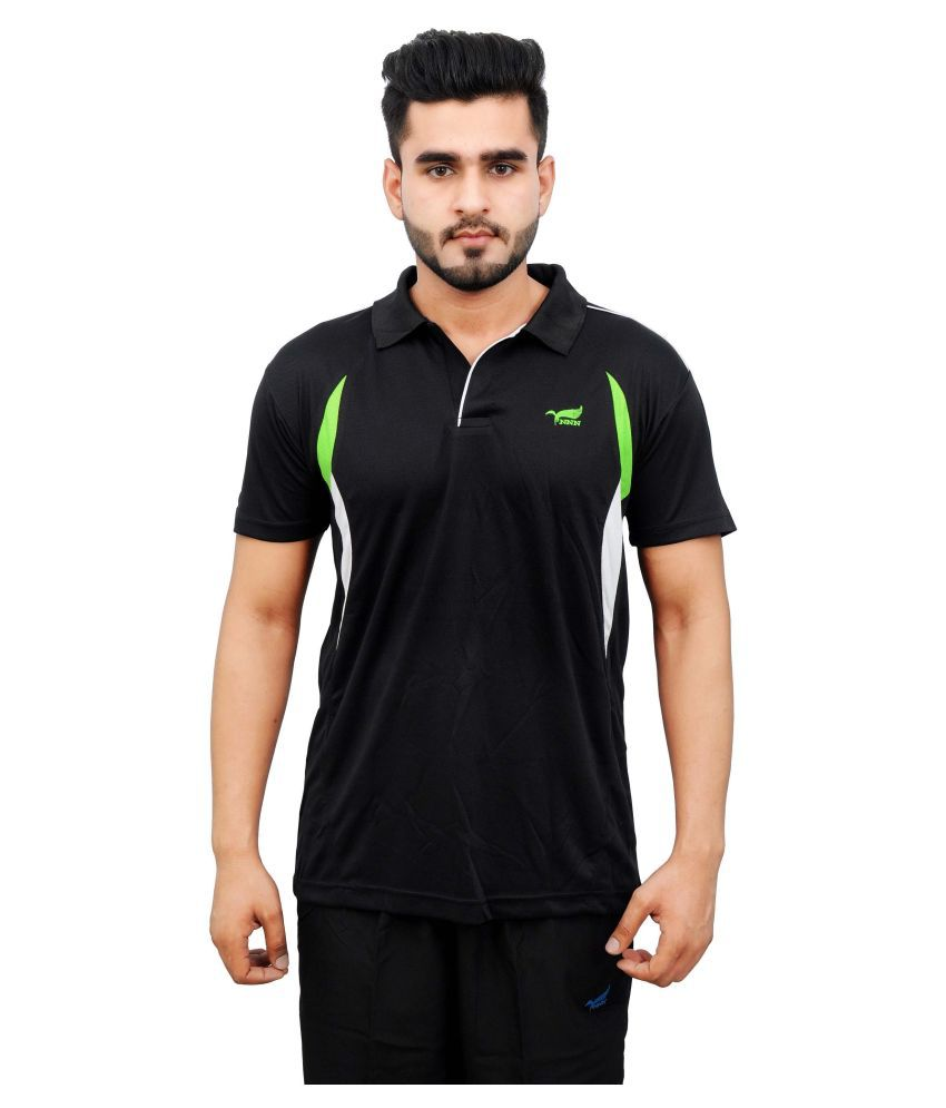 NNN Black Polyester T-Shirt
