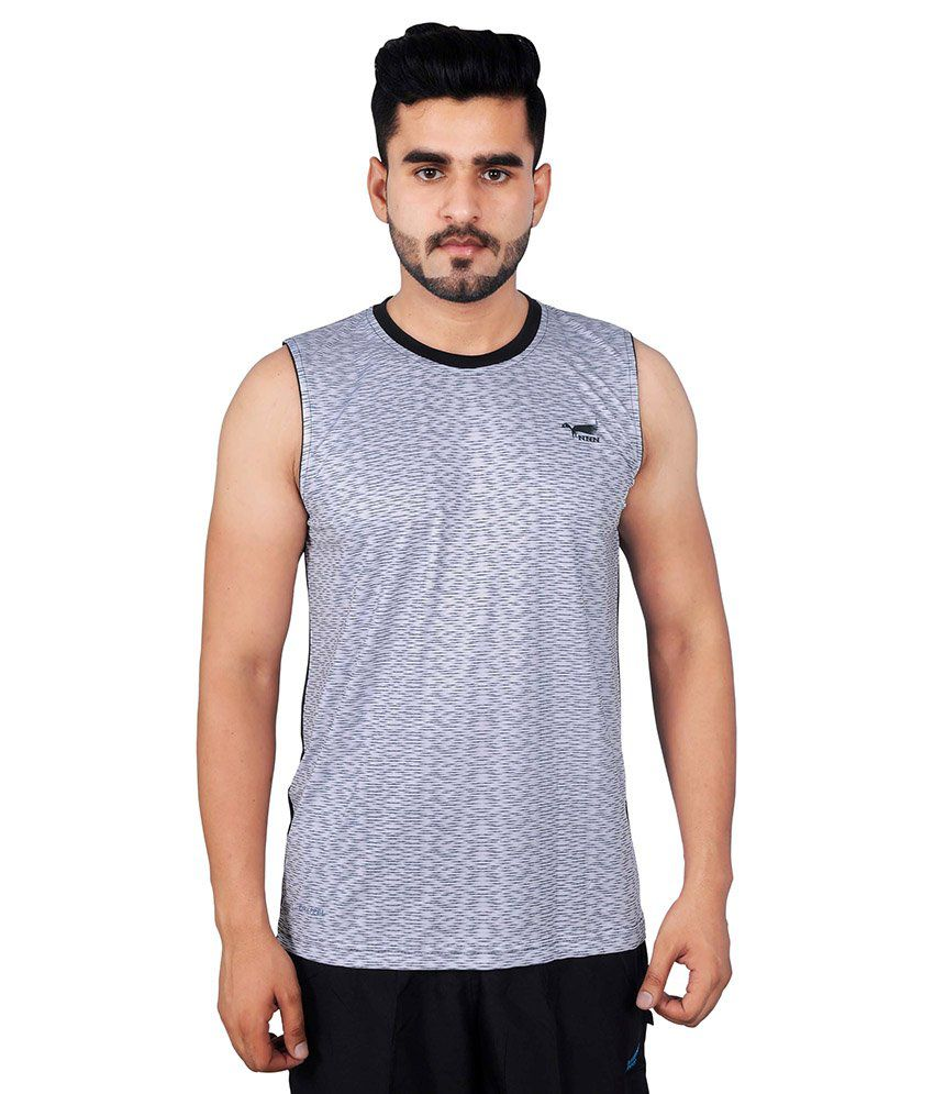 NNN Grey Polyester T-Shirt