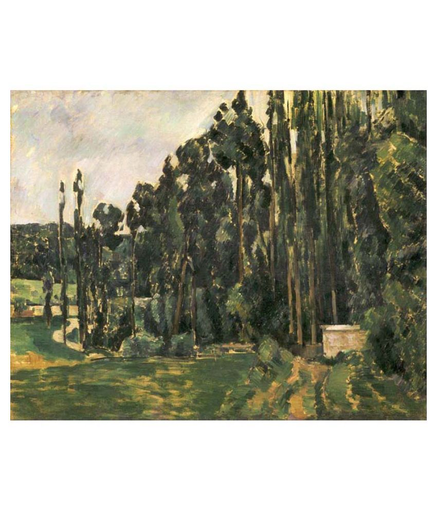 Tallenge Textured Poplars by Paul Cézanne Canvas Art Print