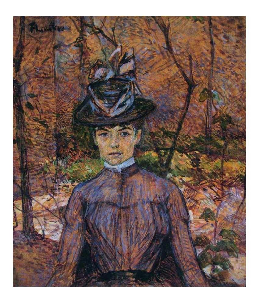 Tallenge Textured Portrait de Suzanne Valadon Canvas Art Print