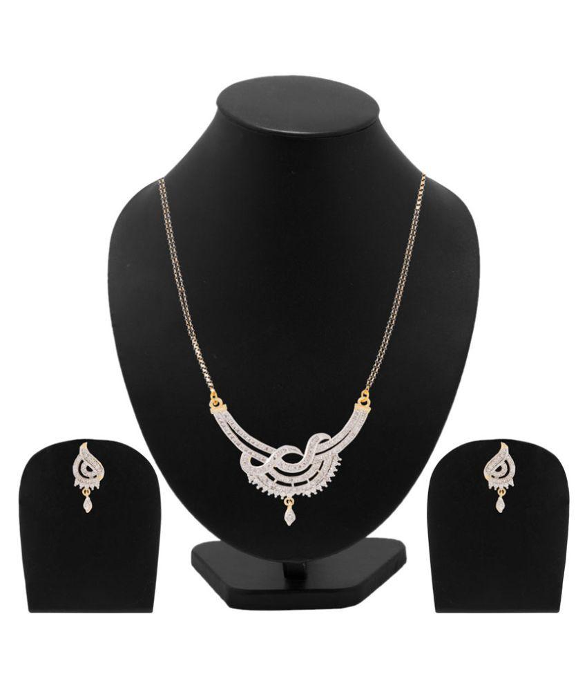 Voylla White Brass Mangalsutra Set