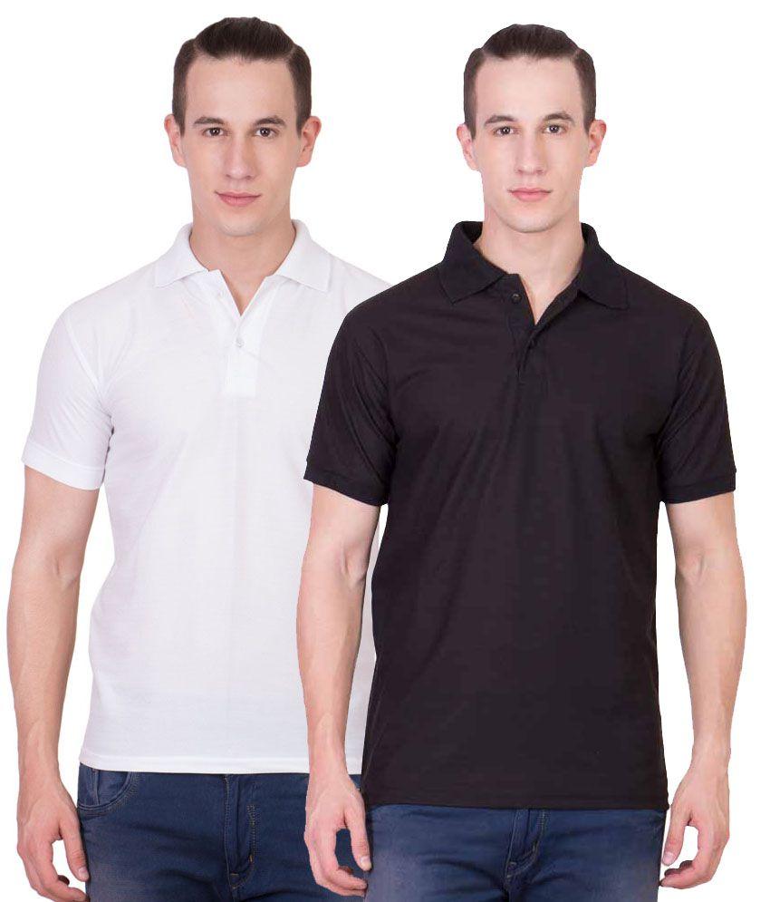 Sara Gym Polo T-shirts Combo (Set of 2)