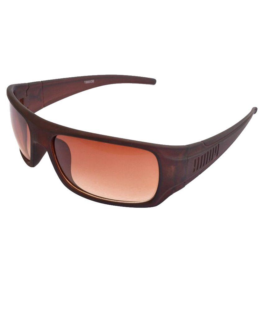 Sunrayz Brown Wrap Around Sunglasses ( Wrapp )