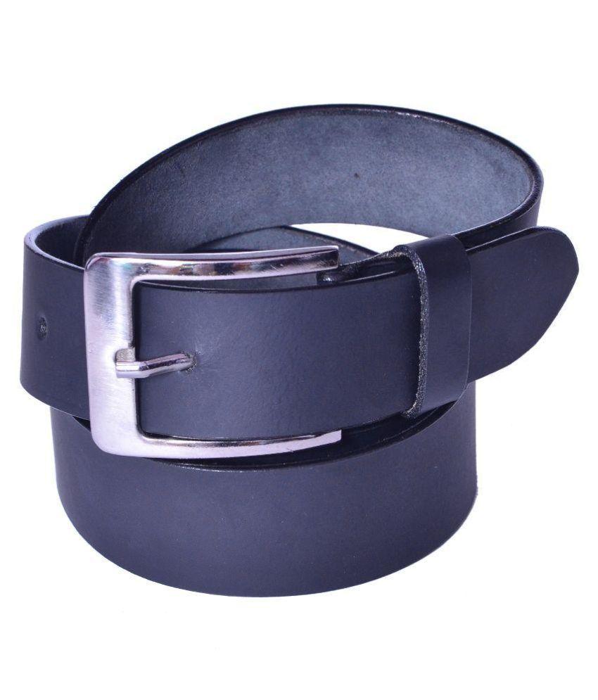Daller Black Genuine Leather Belt for Men