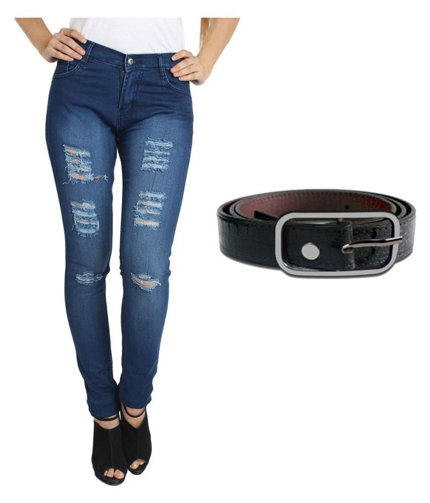 Fuego Blue Cotton Lycra Jeans