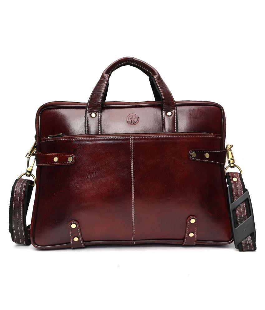 Hammonds Flycatcher Brown Leather Office Bag