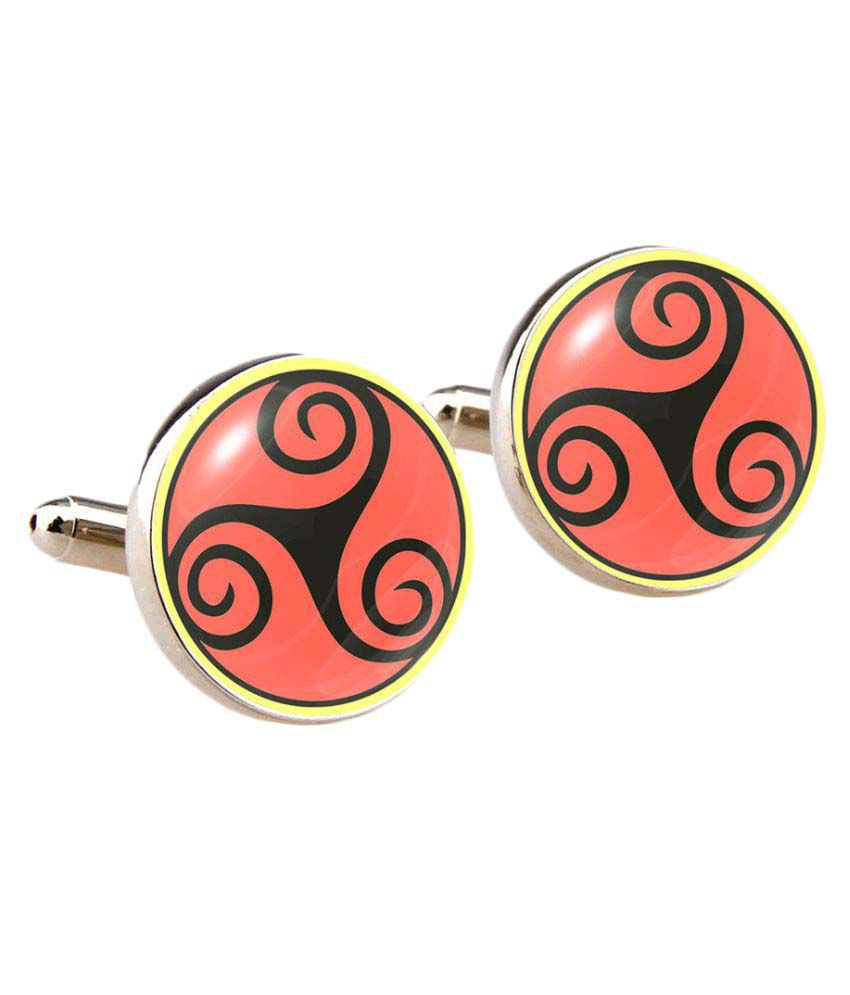 Cuff Tank Red Metal Cufflinks
