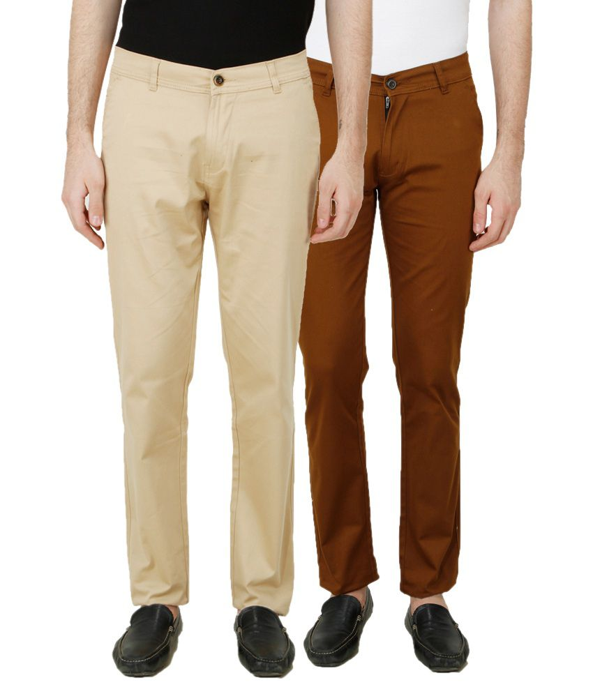 D-Rock Beige Regular Fit Chinos