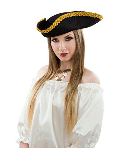 Deluxe Colonial Tricorn Hat - Buy Deluxe Colonial Tricorn Hat Online ... aad10249d65
