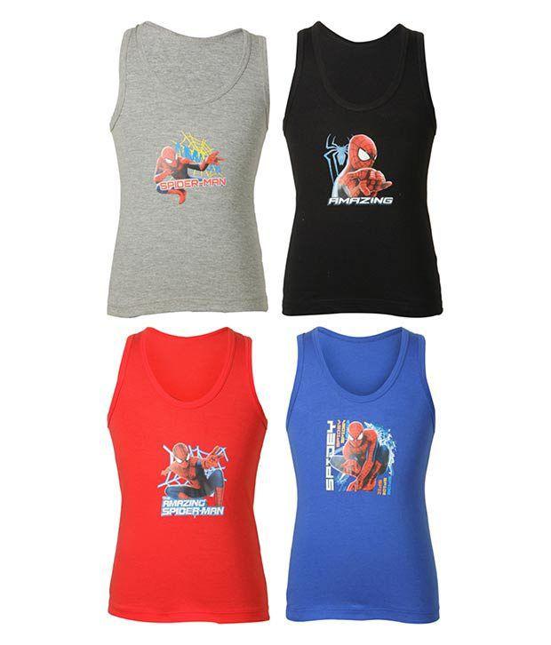 Bodycare Multicolor Cotton Vest - Pack of 4