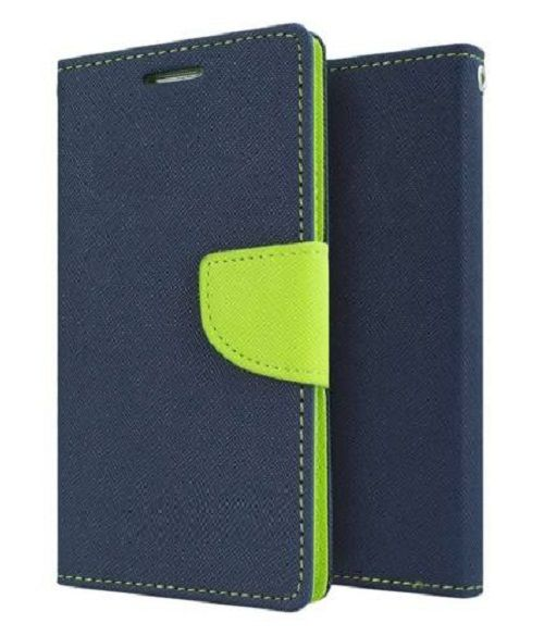 Samsung Galaxy Core Flip Cover by Goospery - Blue