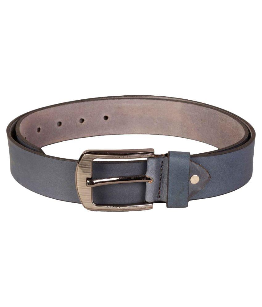 Scharf Black Leather Belt
