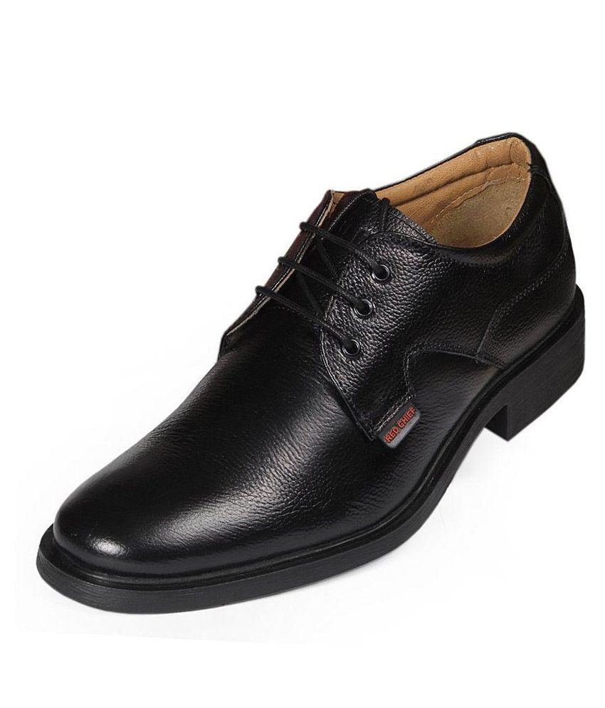 Bata Black Leather Oxford Shoes