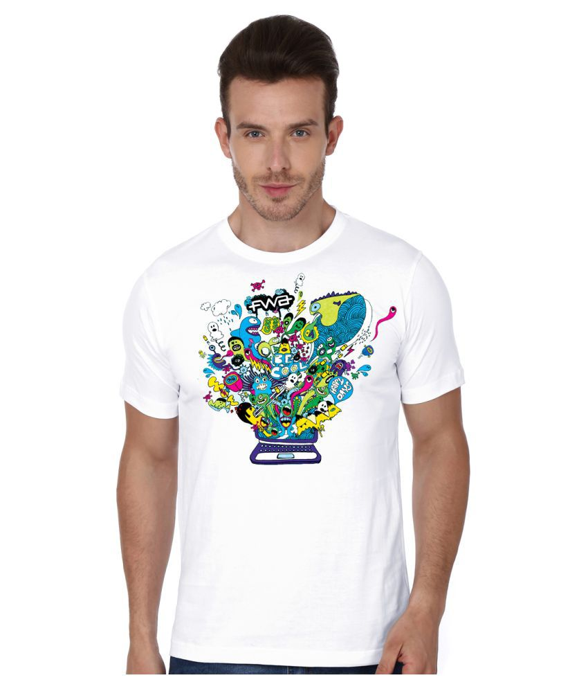 S.ENT. White Round T-Shirt