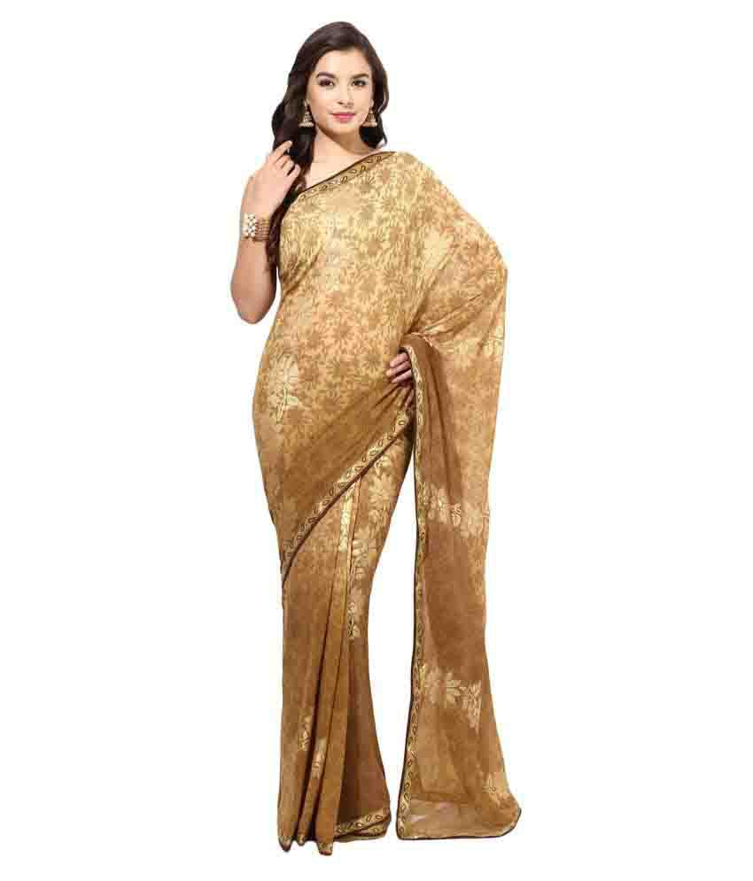 Fabroop Multicoloured Georgette Saree