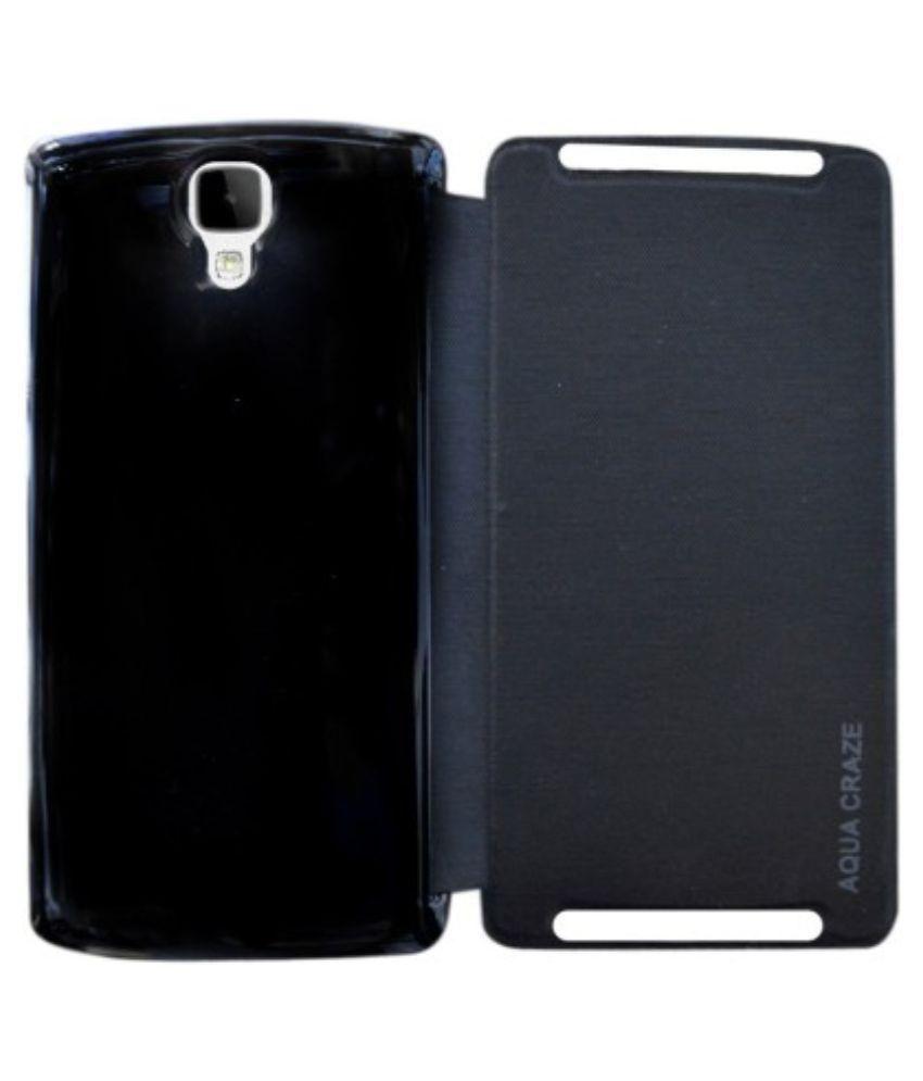 outlet store 9722d a8b6c Intex Aqua Craze Flip Cover by Lamayra - Black