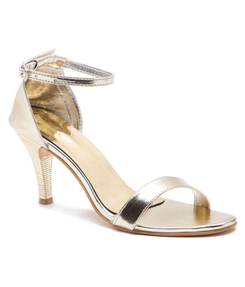 Naaz Gold Stiletto Heels