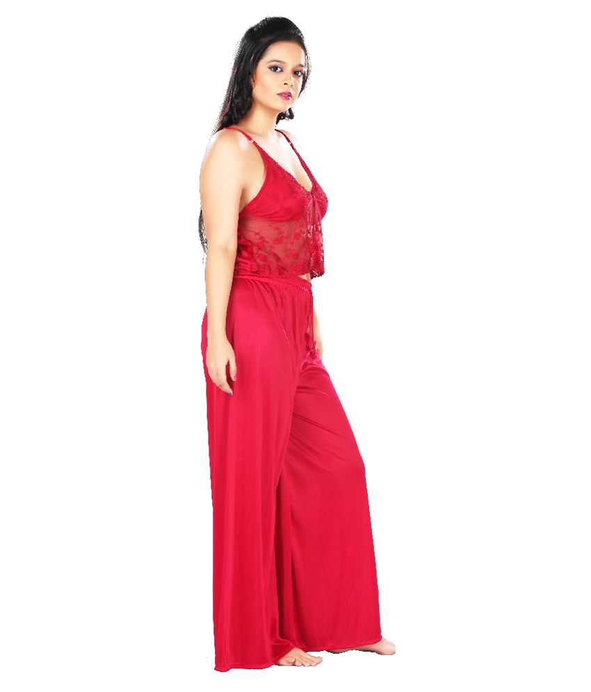 5d0191cded Buy Boosah Satin Nightsuit Sets Online at Best Prices in India ...