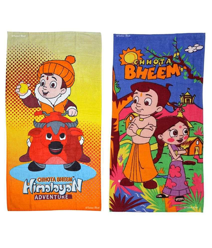 Indian Rack Multi Cotton Bath Towels 2 Pieces