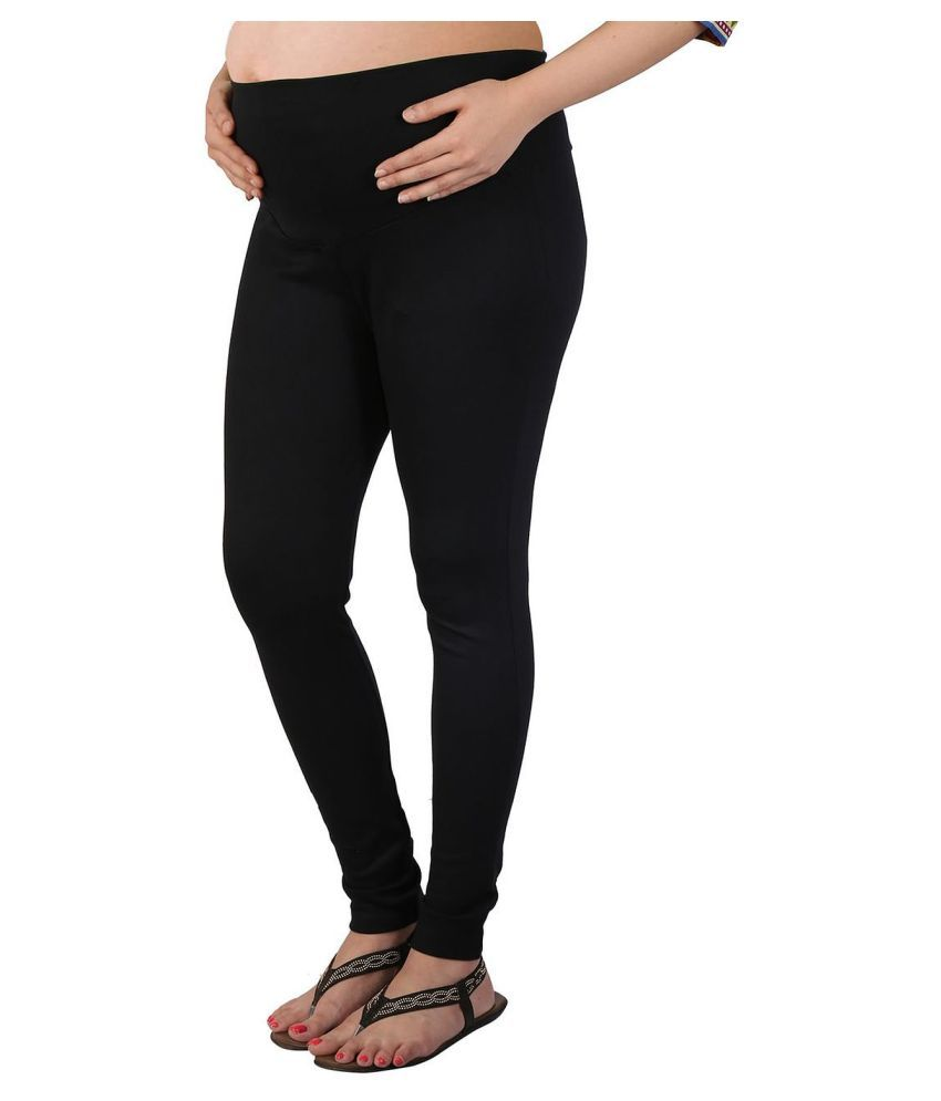 Buy Momtobe Black Cotton Leggings Online at Best Prices in India ...