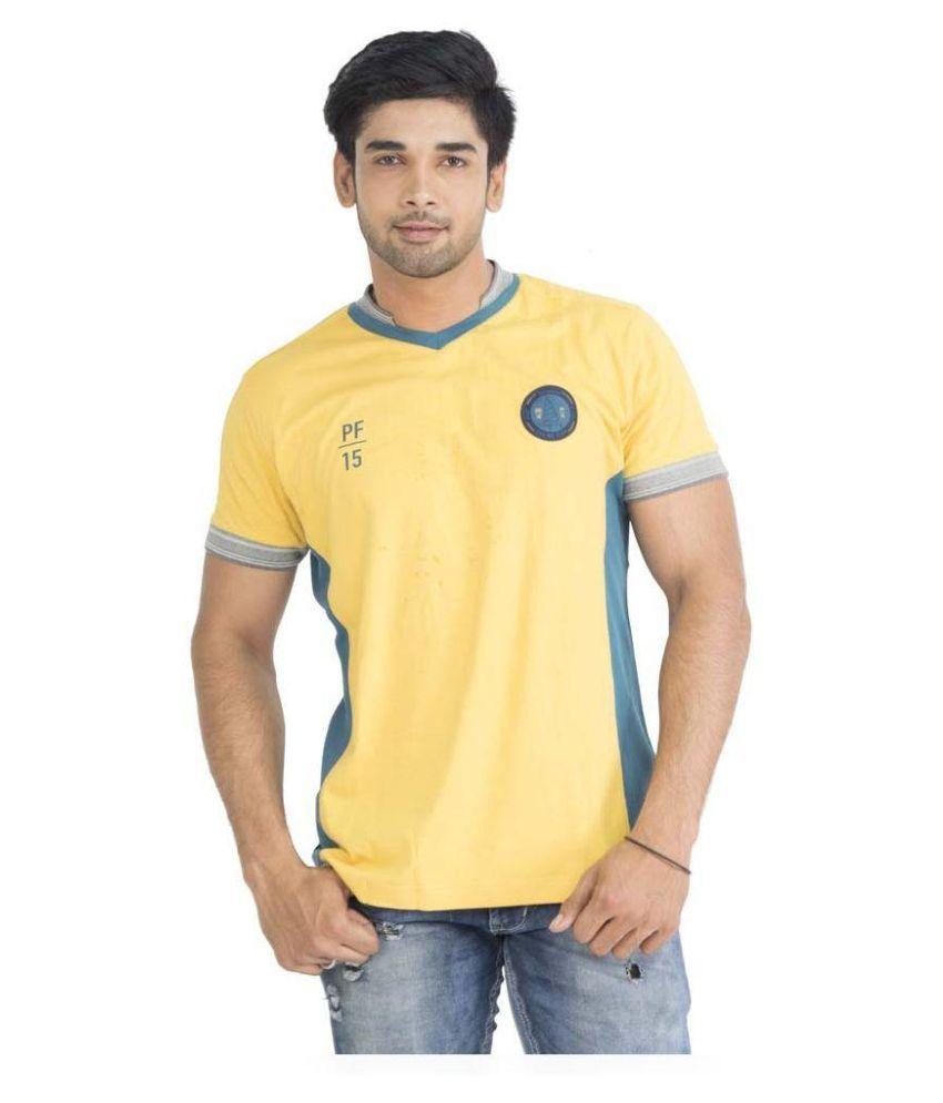 PRO Yellow V-Neck T-Shirt