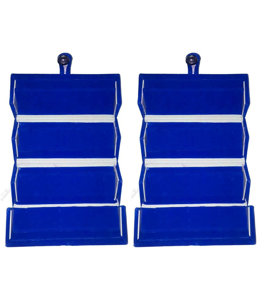 ABHINIDI Blue Wood Jewellery Box - Set of 2