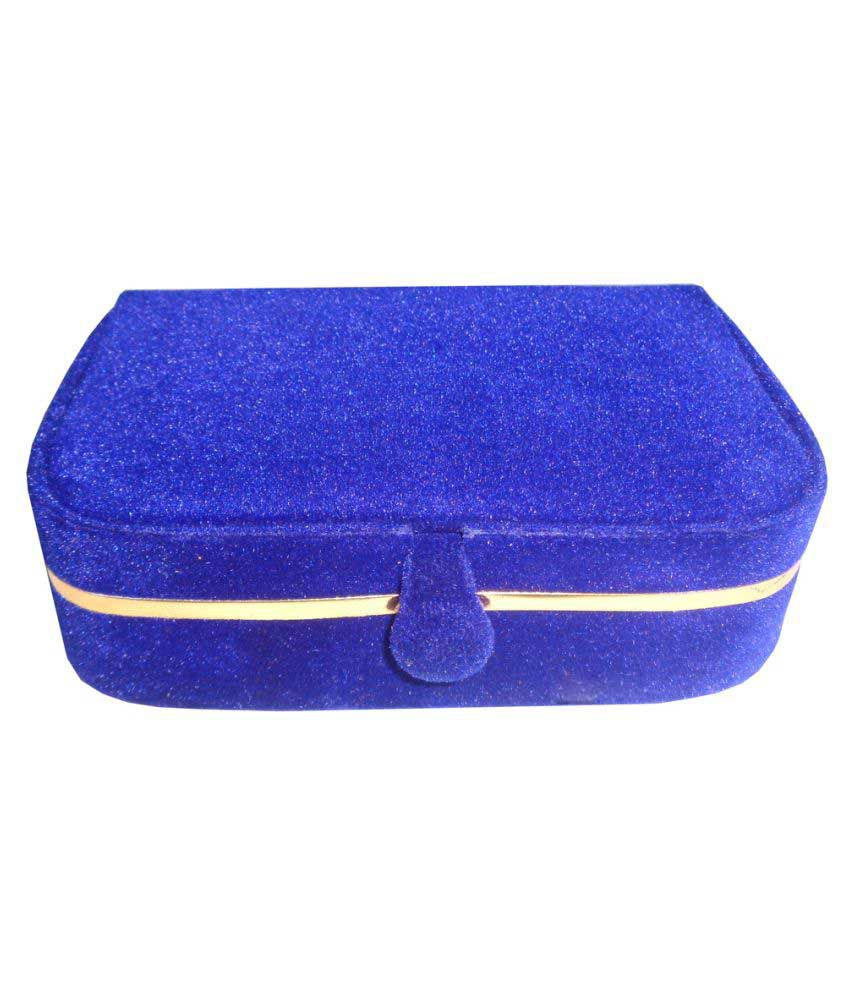 ABHINIDI Blue Wooden Ring Box - Set of 2
