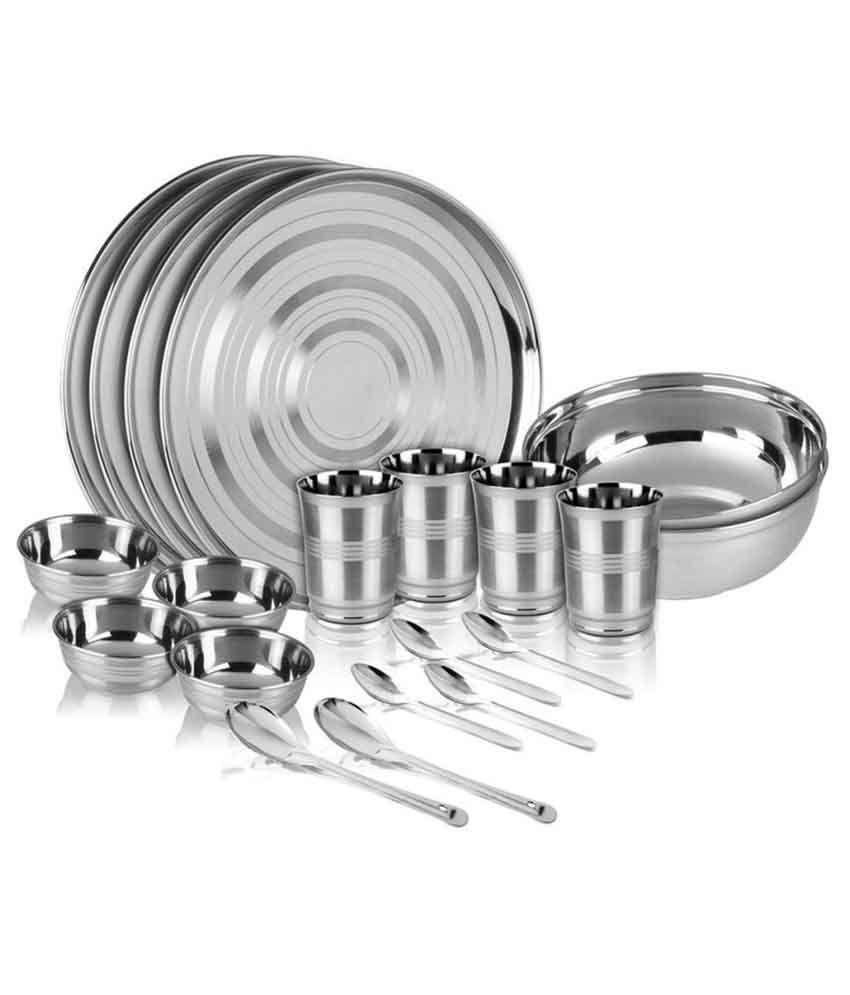 Kitchen Pro Stainless Steel Dinner Set - 20 Pcs