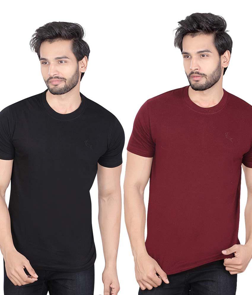 LUCfashion Black Round T-Shirt