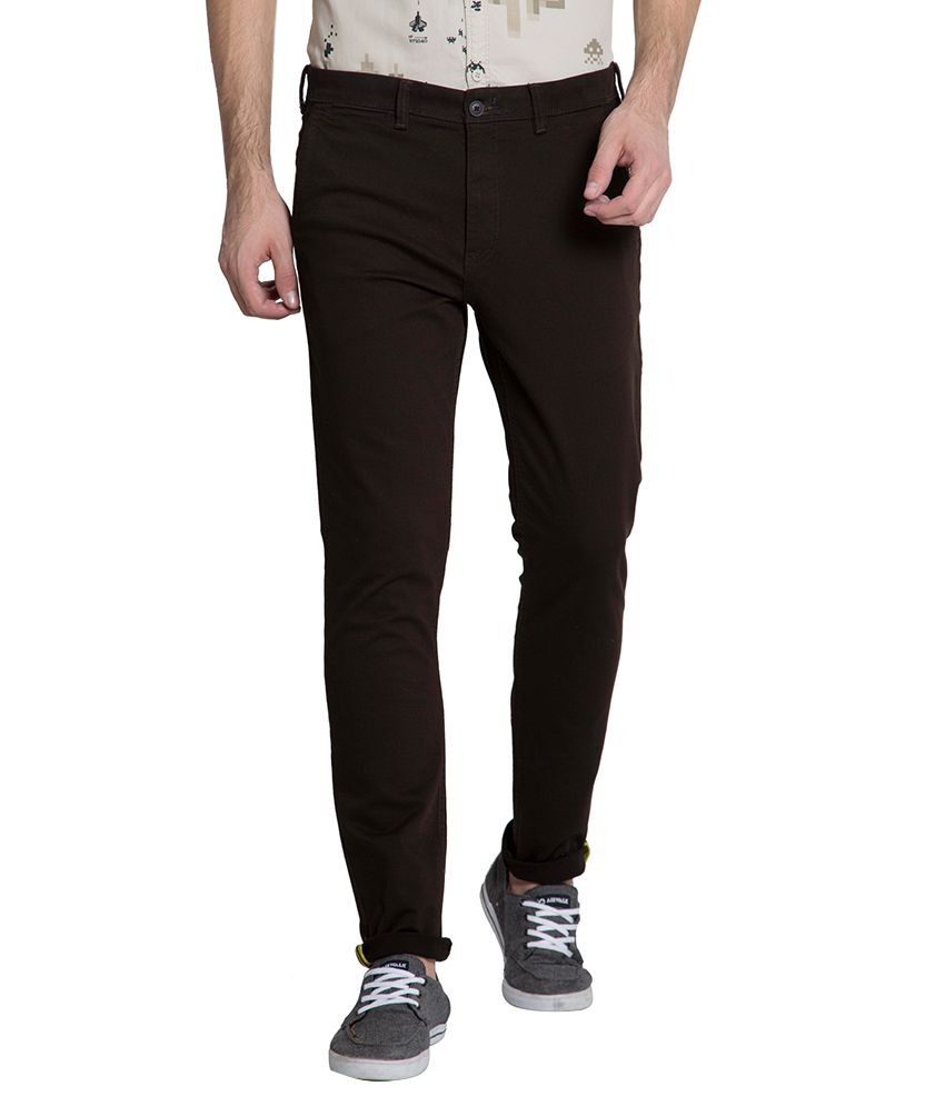 Locomotive Brown Slim Chinos Trouser