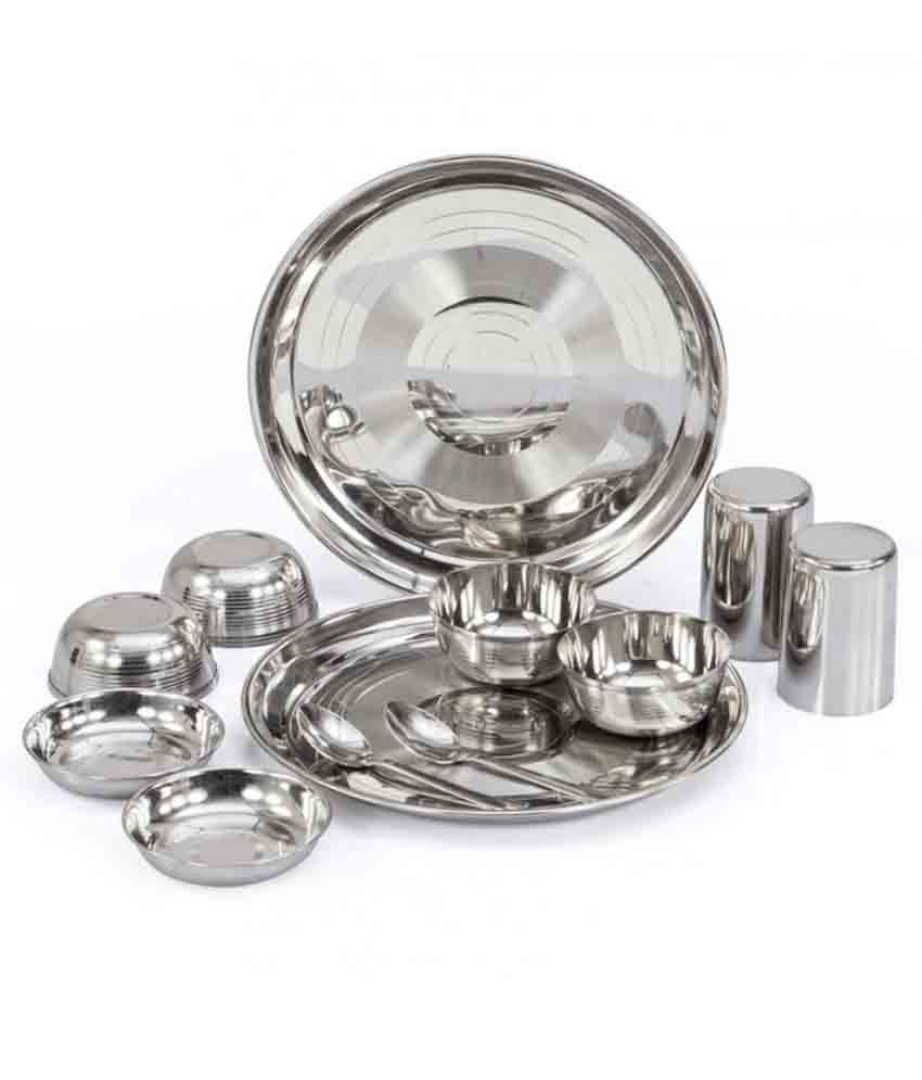 Shivom Stainless Steel Dinner Set - 12 Pcs
