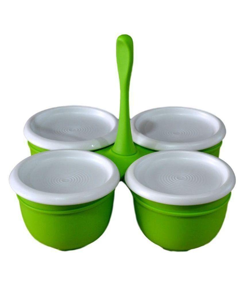 Tupperware Green Polypropelene Condiment Set - 4 Pieces: Buy Online ...
