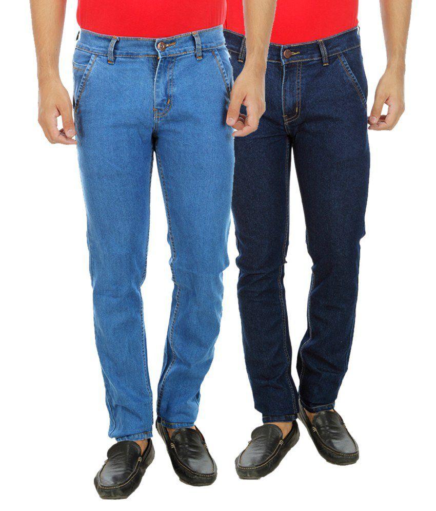 D-Rock Blue Regular Fit Solid