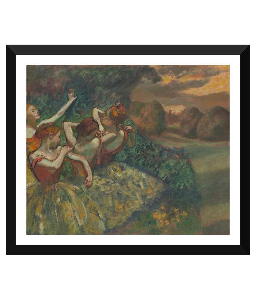 Tallenge Dance Art Paper Art Prints With Frame Single Piece
