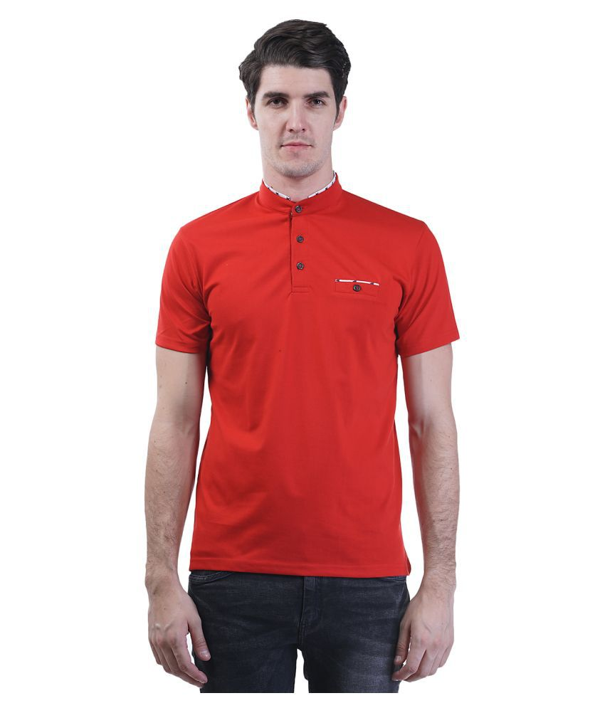 Griffel Red Henley T-Shirt