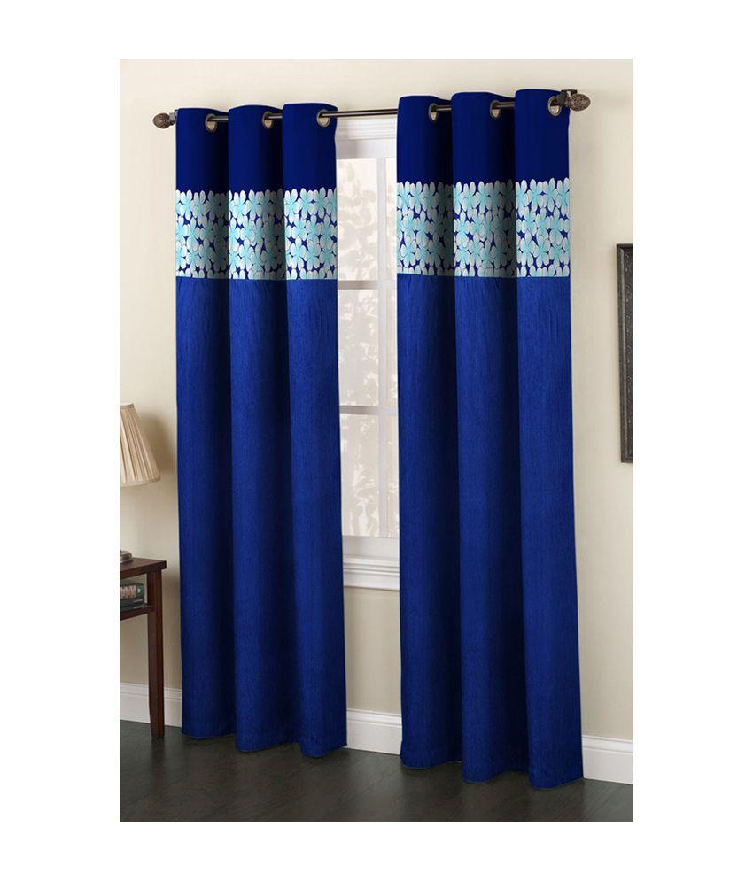 Homefab India Set of 2 Door Eyelet Curtain