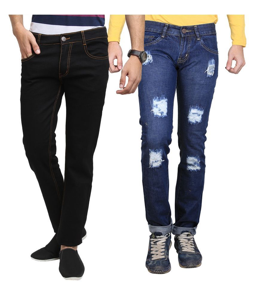 Van Galis Multi Slim Distressed Jeans - Pack of 2