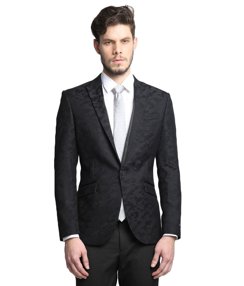BLACKBERRYS Black Regular Fit Blazer