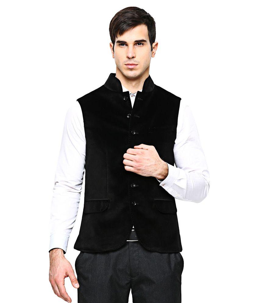 BLACKBERRYS Black Slim Fit Waistcoat