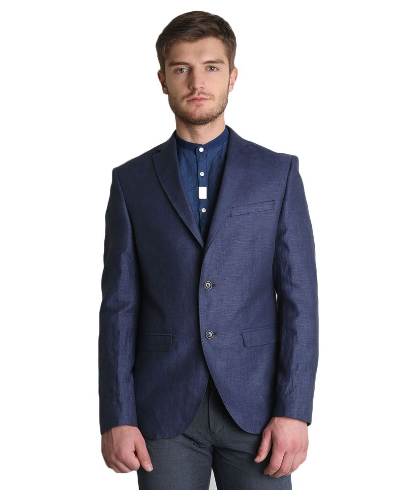 BLACKBERRYS Blue Slim Fit Blazer