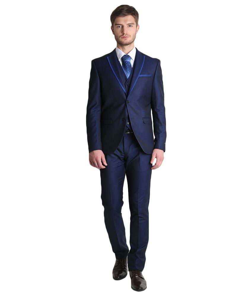 BLACKBERRYS Navy Slim Fit Single-Breasted Suit