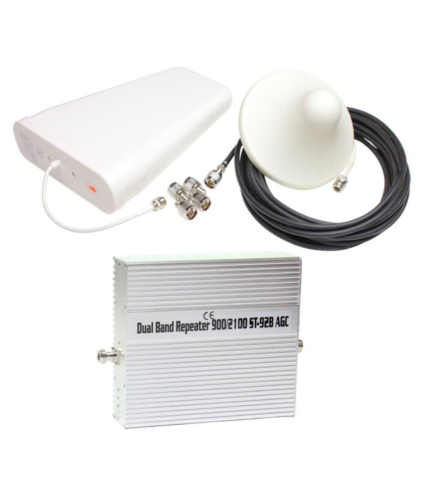 Lintratek ST-92B 3G + 4G Mobile Cell Phone Signal Repeater 1600 RJ11 White
