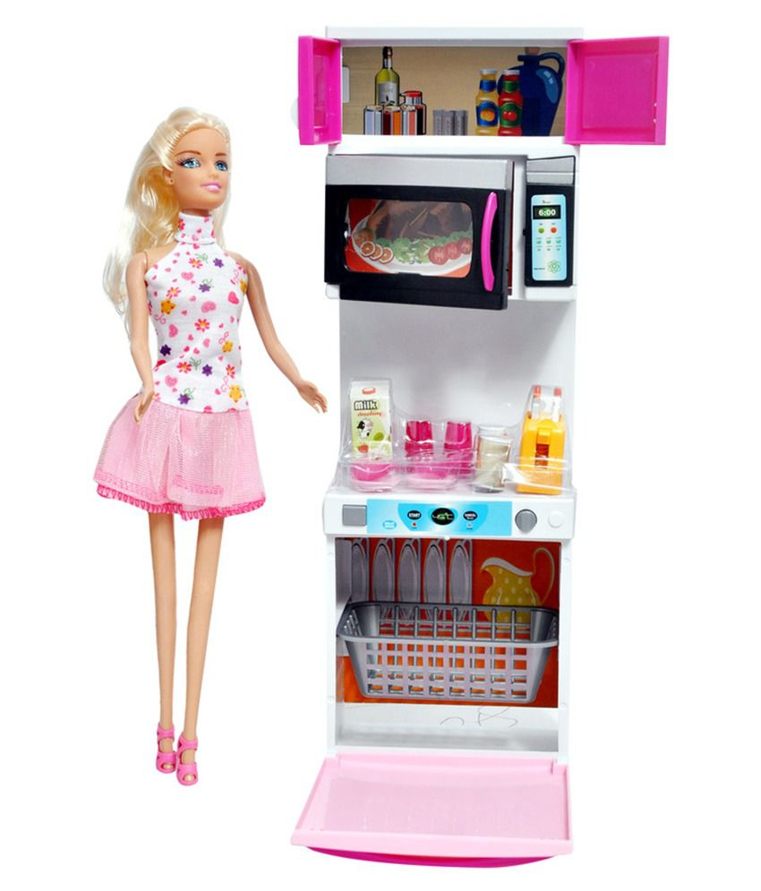 A G Collection kitchen with Barbie Doll - Buy A G Collection kitchen ...