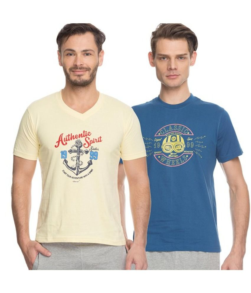 GenX Multi V-Neck T-Shirt Pack of 2
